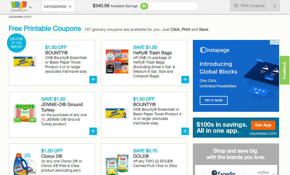 10 Best Websites For Grocery Coupons Couponado